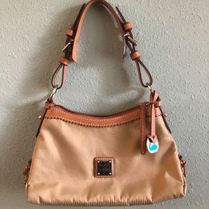 Dooney and Bourke vinyl and leather handbag